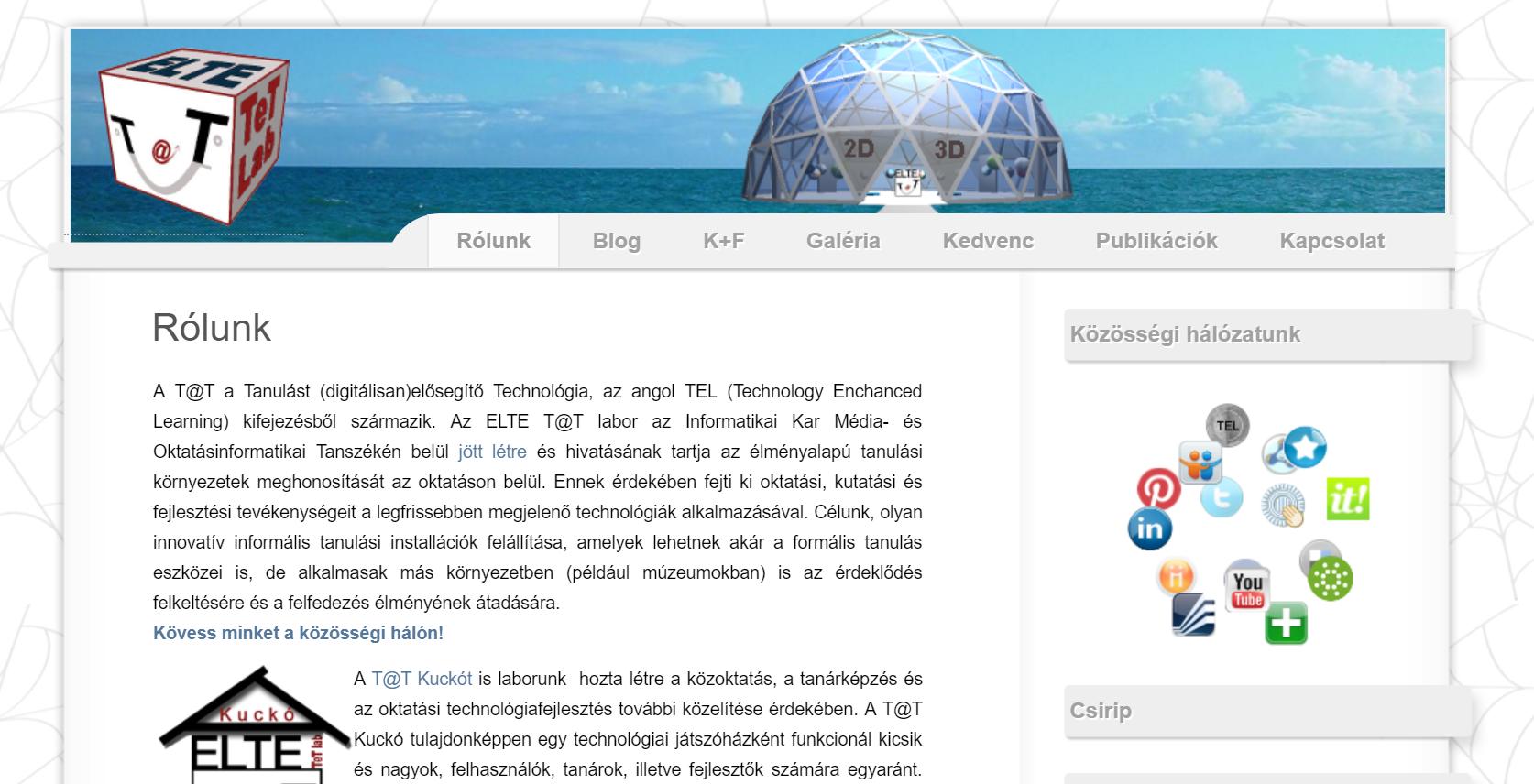 Tet Labor honlapja
