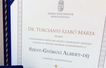 Apáczai Csere János-díjat, valamint Szent-Györgyi Albert-díjat vehettek át oktatóink